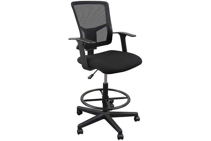 S Stand Up Desk Drafting Task Stool Chair