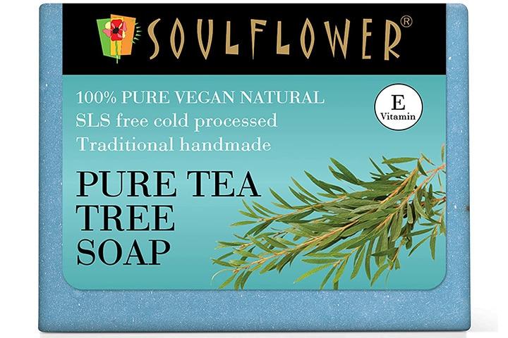 Soulflower Pure Tea Tree Handmade Soap