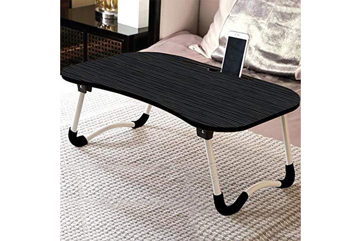 TARKAN Foldable Wooden Laptop Desk For Bed