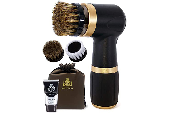 The King's Shoes Electric Shoe Polisher Kit
