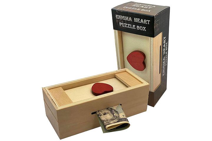 Winshare Enigma Heart Puzzle Box