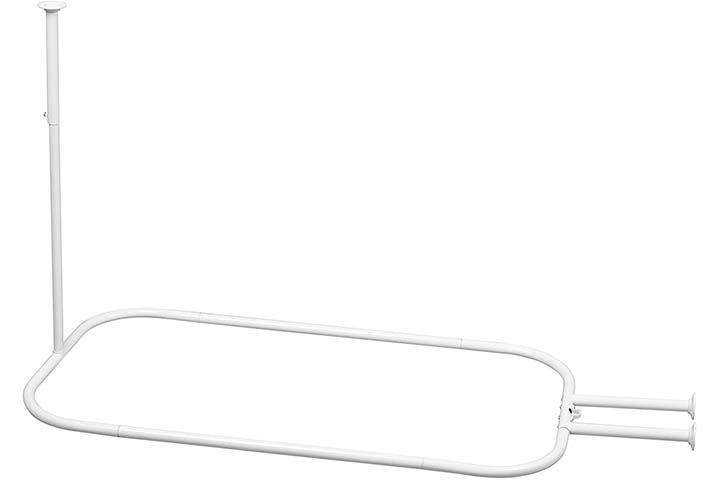 Zenna Home Aluminum Hoop Shower Curtain Rod