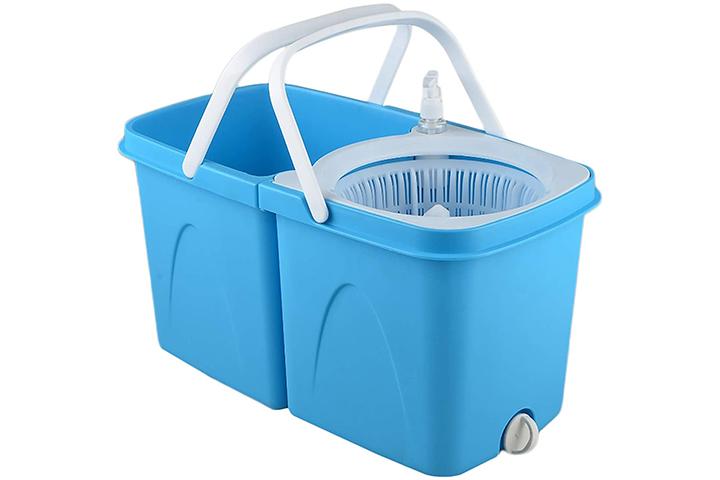WOTRA Smart Twin Bucket Spin Mop
