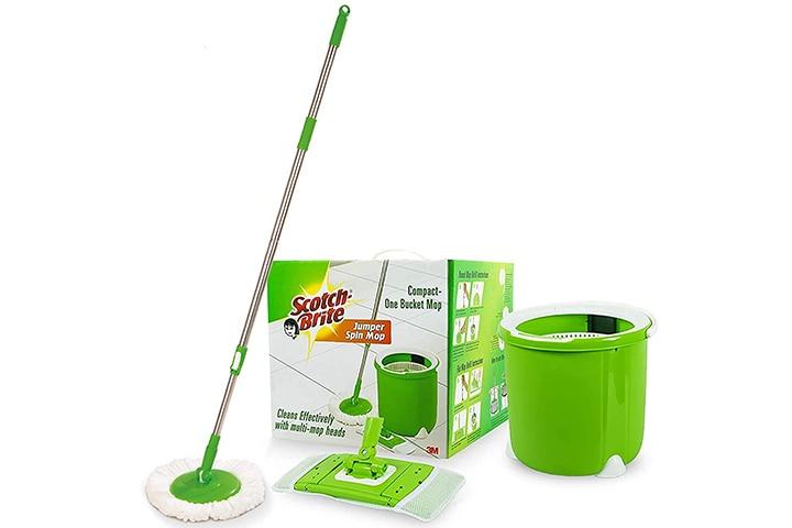 Scotch-Brite Jumper Spin Mop With Bucket