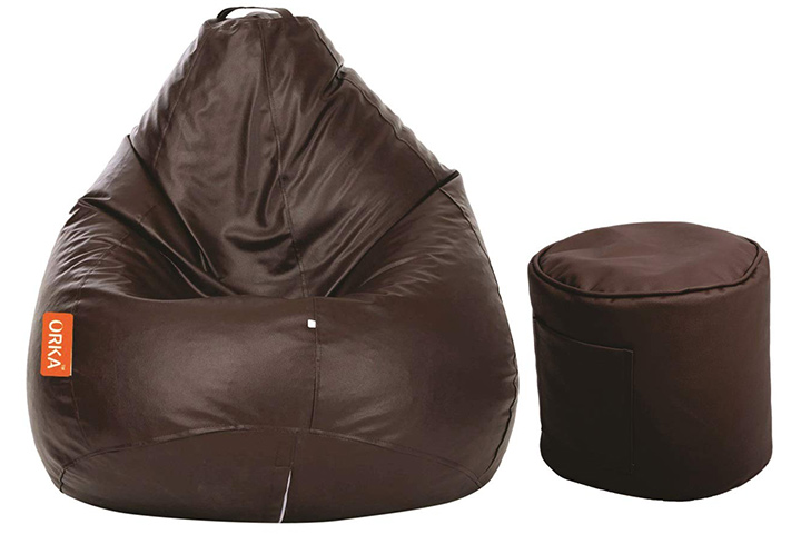 Orka Classic Bean Bag with Footstool