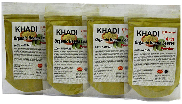 KHADI Omorose Organic Henna Leaves Powder