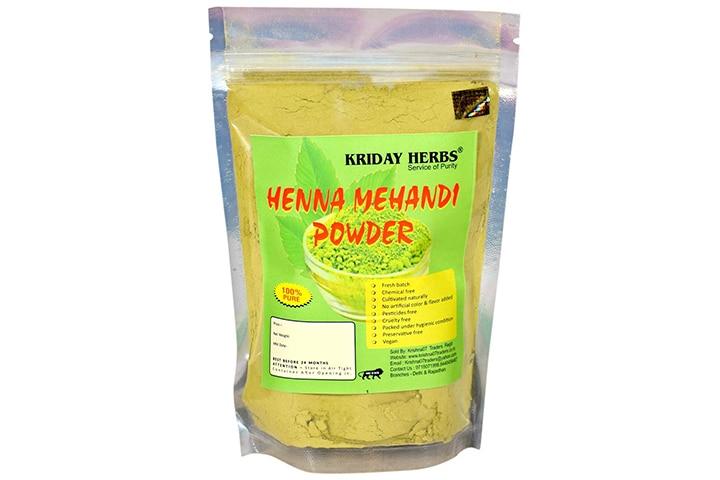 KRIDAY HERBS Henna Mehendi Powder