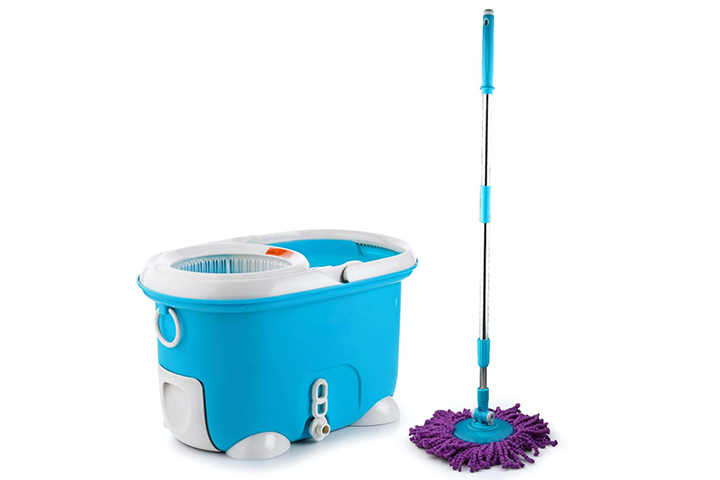 Sparkmate By Crystal Plastic Magic Cleaning Mop With Bucket