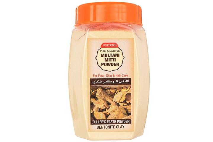 United's Pure And Natural Multani Mitti Powder