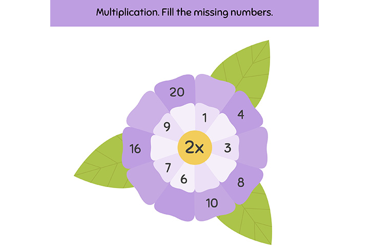 Math facts garden