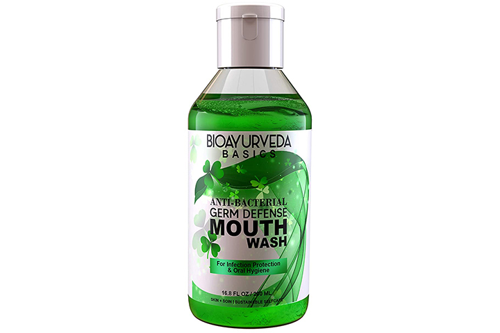 Bioayurveda Basics Antibacterial Germ Defense Mouthwash