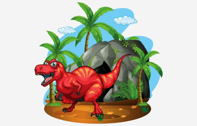 Dinosaur Ka Gupha Story In Hindi