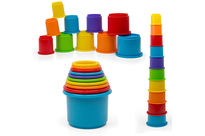 KidsthrillRainbow Nesting & Stacking Cups Baby Building Set
