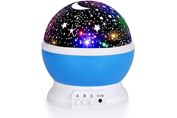 Luckkid Night Light Moon Star Projector