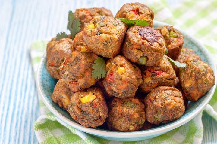 Meat and veggie meatballs