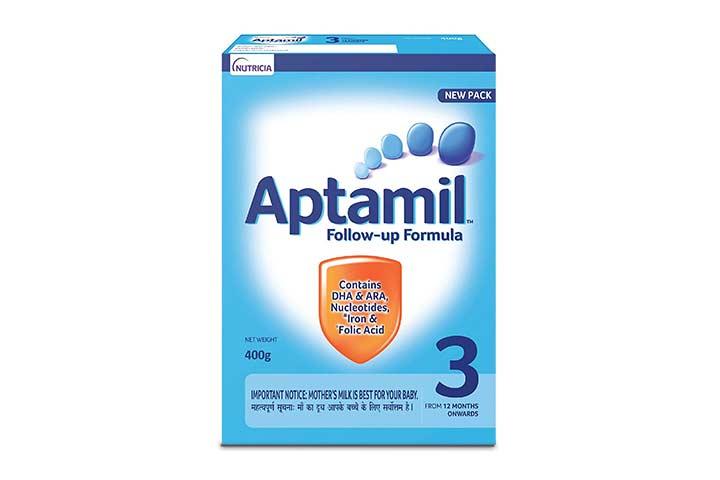Nutricia's Aptamil 3 Follow Up Infant Formula