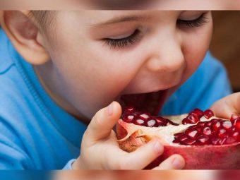 बच्चों के लिए अनार: कब देना शुरू करें, फायदे व रेसिपीस | Pomegranate For Babies In Hindi