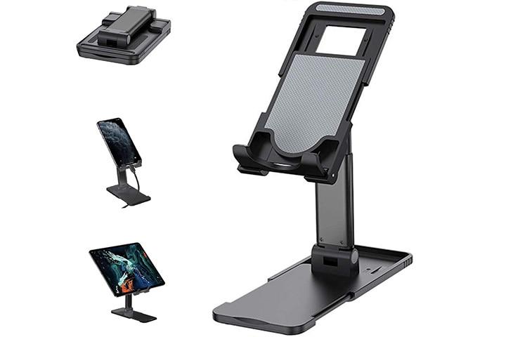Tarkan Phone Holder For Table, Foldable Universal Mobile & Tablet