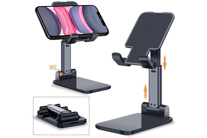 Spykart Adjustable And Desktop Phone Holder Stand