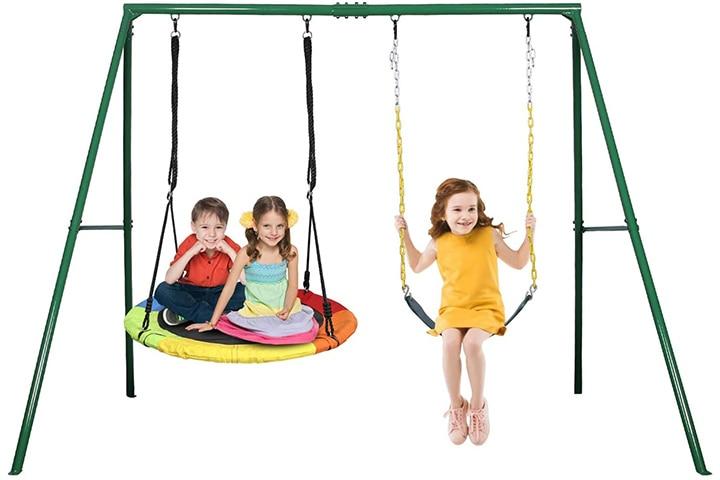 Trekassy Metal Swing Set
