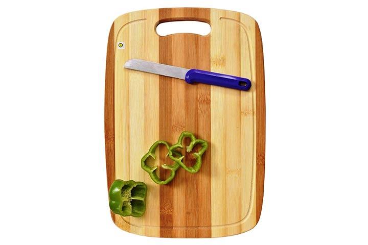 Yellow Weaves Natural Bamboo Chopping Board