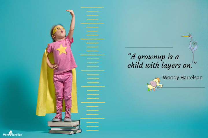 grownup is a child with layers