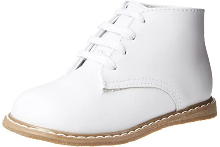 Baby Deer High Top Leather First Walker - White