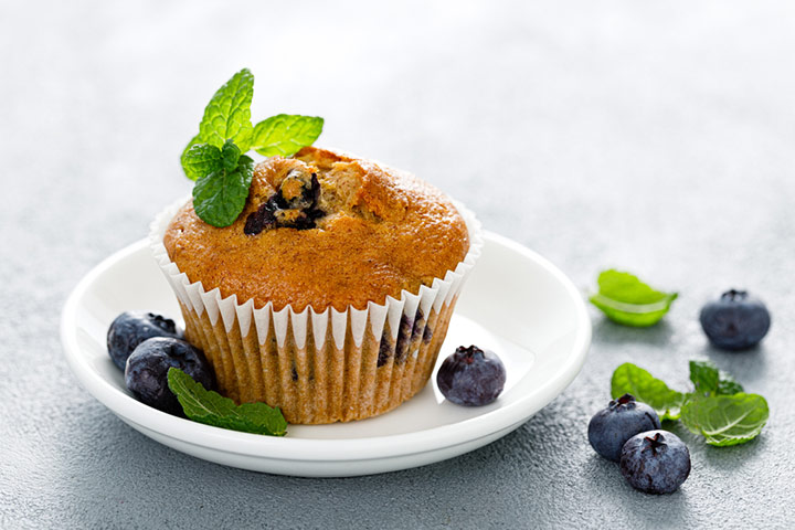 Blueberry and banana muffin