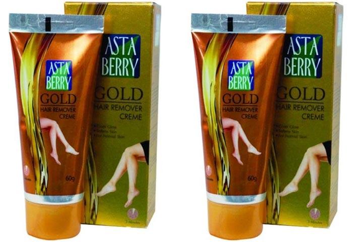 Asta Berry Gold Hair Remover Cream