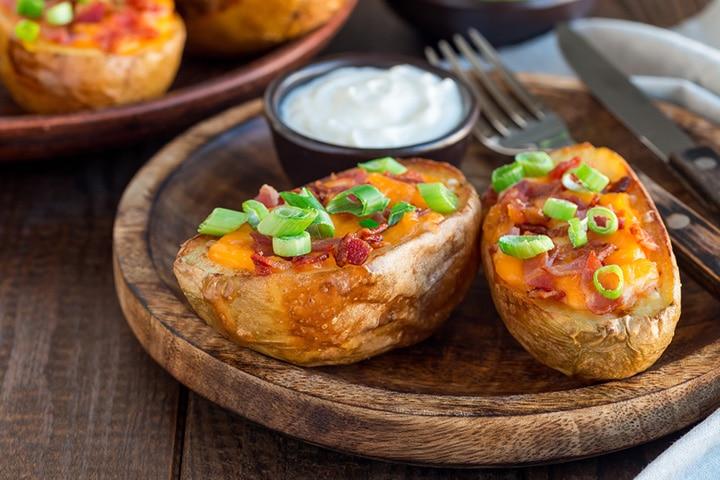Baked loaded potatoes