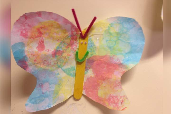 Bubble art butterfly