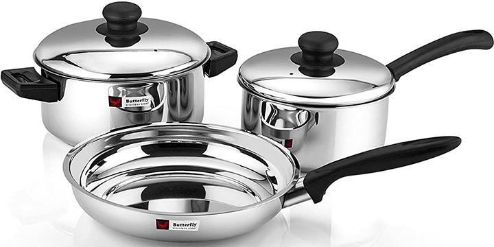 Butterfly Stainless Steel Cookware