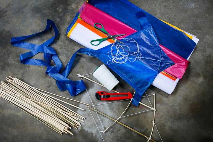 Colorful kite-making