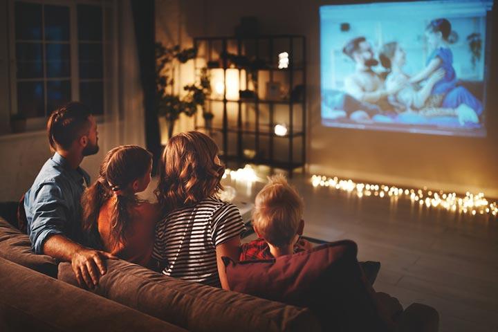 Cozy movie night party