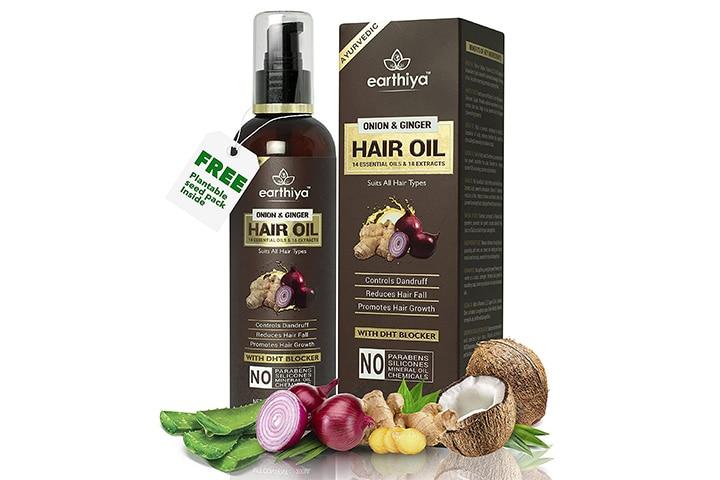 Earthiya Onion And Ginger Hair Oil