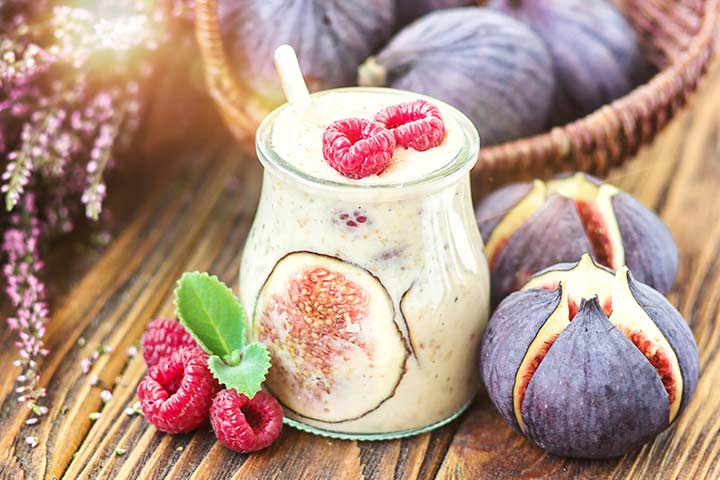 Fig, almond, and peanut butter shake