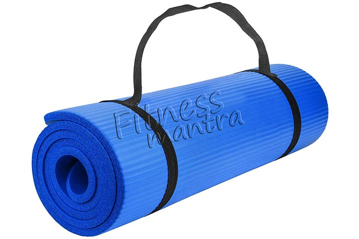 Fitness Mantra Yoga Mat With Carrying Strap