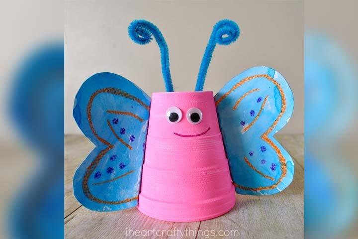 Foam cup butterfly