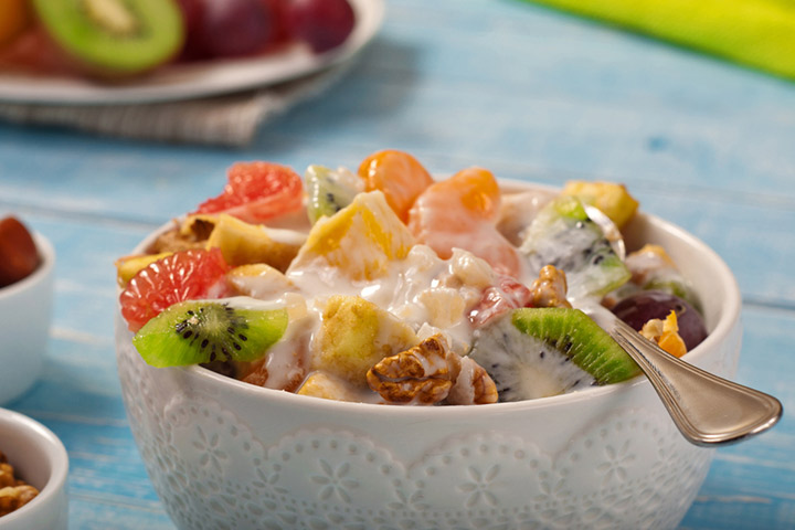 Fruit and nuts salad