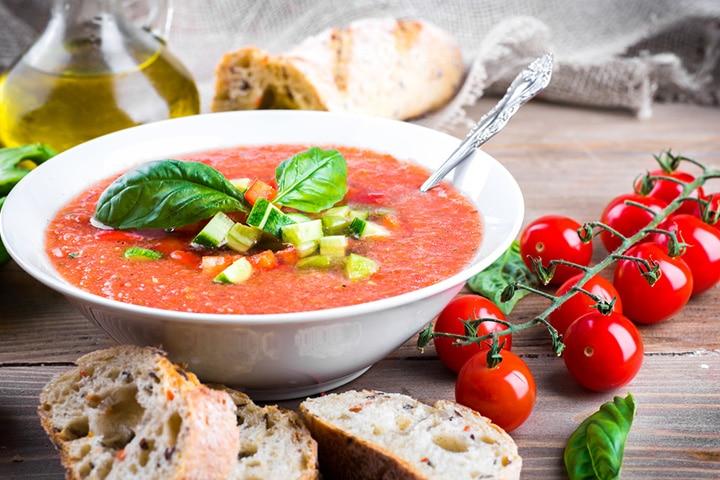 Gazpacho Andaluz (Spanish cold tomato soup)