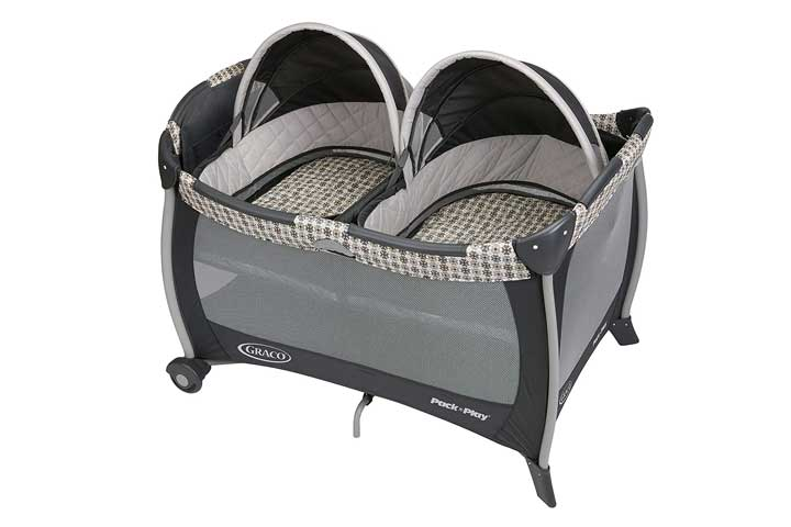 Graco Pack N Play Playard With Bassinet For Twins