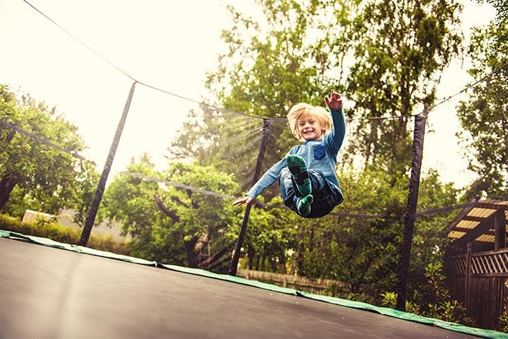 Jump on a trampoline