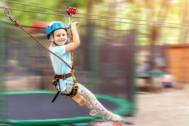 Kids zipline