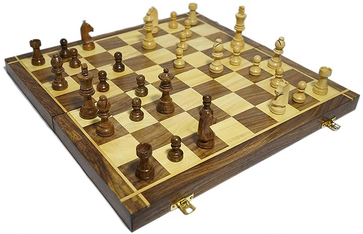 Lunatic Craftwork Collectible Wooden Chess Game