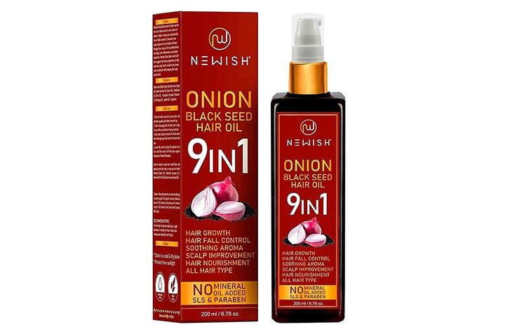 Newish 9 In 1 Onion Black Seed Hair Oil