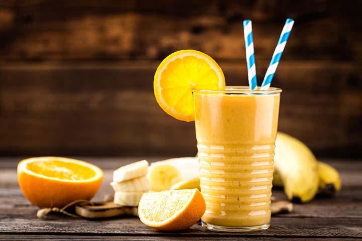 Orange breakfast shake