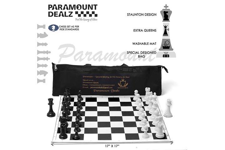 Paramount Professional Vinyl Chess Set