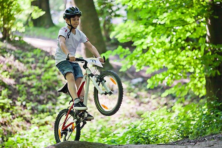 Perform bike tricks