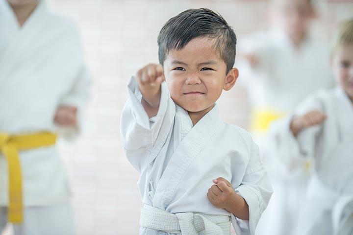 Perform karate