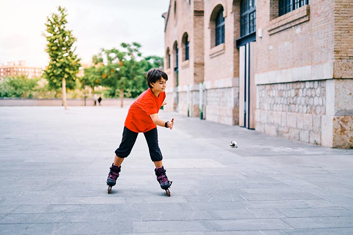 Perform roller skating